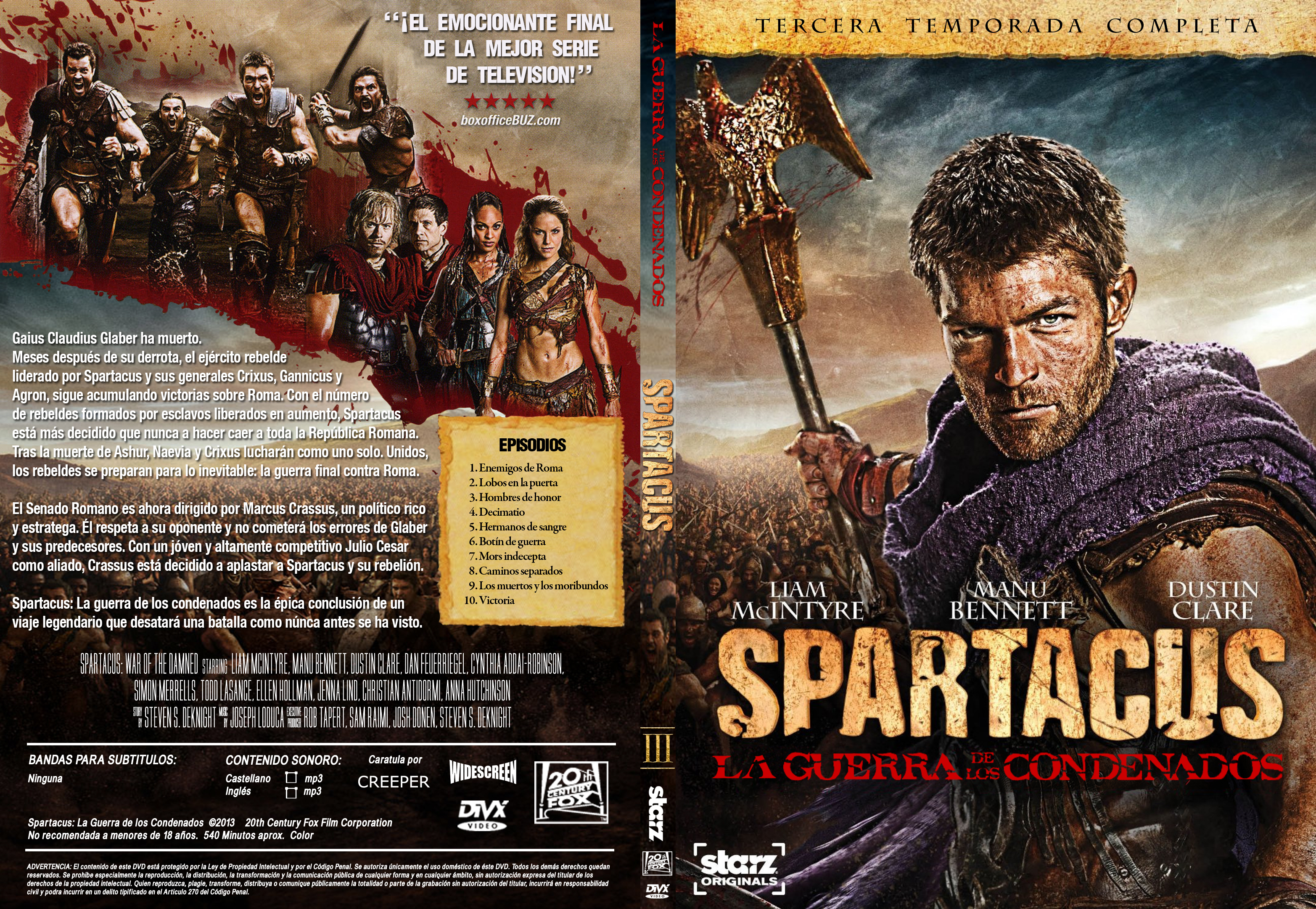 Spartacus - Completa - Menu-Graphics
